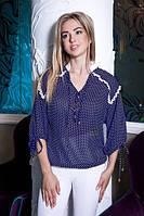 Рубашка блузка  шифоновая в горошек