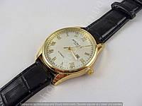 Мужские часы Patek Philippe 4140 золотистые с серебристым циферблатом