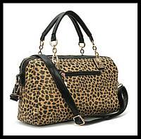 Леопардовая сумка с пайетками! Мода 2015! Сумки из кожи PU.Хорошее качество.Интернет магазин.Код: КСМ191