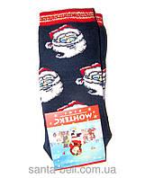 Новогодние носки детские , зимние, махровые внутри, хлопок турция 2-4года