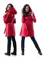 Пальто с капюшоном плащевка на синтепоне стеганая подкладка