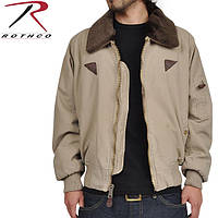 Куртка пилота светлая хаки, Rothco Vintage B-15A Bomber Jacket, размер 50-52р (S, M)