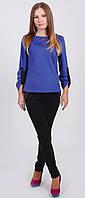 Блуза женская с молнией синяя, фото 1