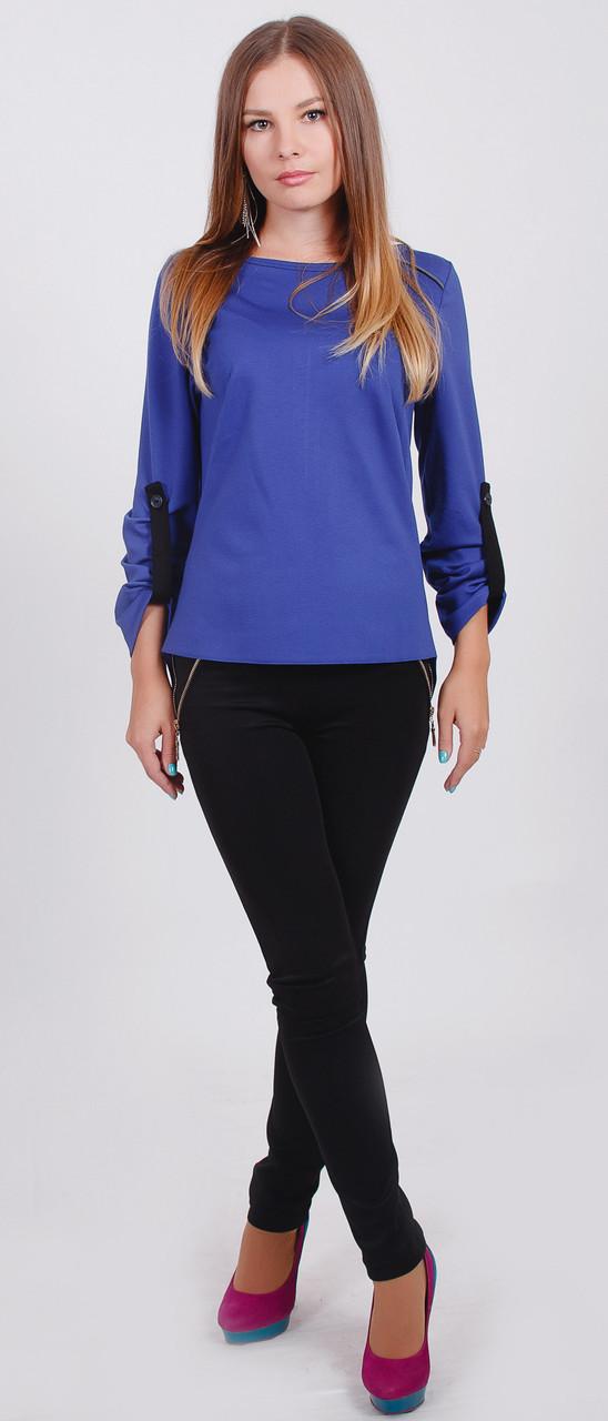 Женская блузка синяя с доставкой