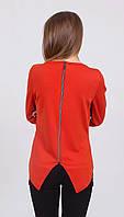 Блуза женская с молнией терракот, фото 1