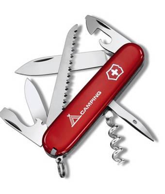 Замечательный складной нож Victorinox Camper 13613.71 красный