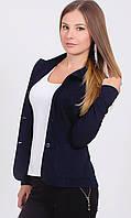 Жакет женский приталенный темно-синий, фото 1