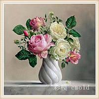 """Набор для рисования камнями """"Маленький букет из роз"""""""