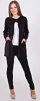 Пиджак женский удлиненный черный, фото 1