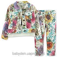Костюм для девочки (брюки+пиджак+кофточка)