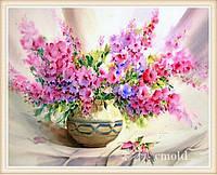 """Алмазная вышивка """"Картина с прелестными цветами в вазе"""""""