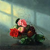 """Набор для рисования камнями """"Картина натюрморт фрукты и цветы"""""""