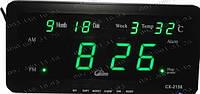 Домашние Часы Led Digital Clock CX-2158 Как настольные так и настенные! Присутствуют календарь+термометр!