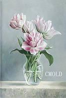 """Алмазная вышивка """"Цветы белые в прозрачной вазе"""""""