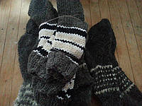 Теплые носки из бараньей шерсти