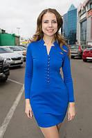 """Облегающее трикотажное платье """"Yasmin"""" с карманами и длинным рукавом (3 цвета)"""