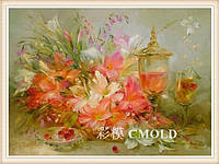 """Набор для рисования камнями """"Картина с цветами акварель"""""""