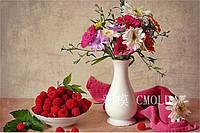 "Алмазная вышивка ""Белая ваза с цветами на столе"""