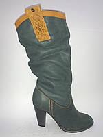 Кожаные женские евро зимние модные удобные стильные сапоги 38р Vizzavi