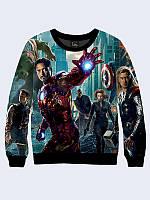 Світшот жіночий 3D Avengers/Свитшот Железный человек Мстители