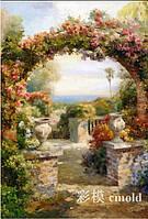 """Набор алмазной вышивки """"Садовая цветочная арка"""""""