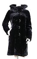 Шуба из мутона с капюшоном Z-1565