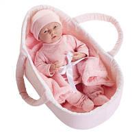 Кукла младенец девочка в люльке, Berenguer Boutique 2015, 39 см.