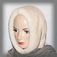 Меховой платок из норки (молочный)