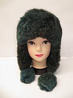 Зимняя меховая шапка ушанка женская