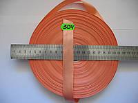 Лента атласная двухсторонняя 20мм, цвет лососевый, Турция