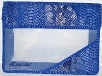 Папка. На липучках А4 Синяя (кожа змеи) РА4-3996  JosefOtten