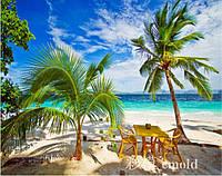 """Алмазная вышивка набор """"Пальмовый пляж на берегу океана"""""""