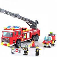 """Детский конструктор """"Пожарные спасатели"""" Brick 908, 607 деталей"""