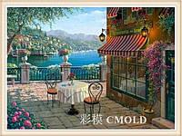 """Набор для алмазной живописи """"Летнее кафе возле моря"""""""
