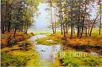 """Набор для рисования камнями """"Старое озеро в лесу"""""""