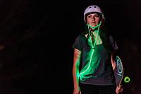 Светящиеся наушники Light Earphone с LED проводом зеленые 4422
