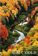 """Алмазная мозаика набор """"Красивый вид сверху на осенний лес"""""""