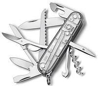 Надежный швейцарский складной нож Victorinox Huntsman 13713.T7 серебристый
