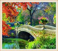 """Алмазная вышивка """"Красивый мостик над рекой"""""""