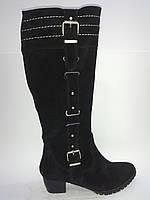 Замшевые женские зимние удобные стильные сапоги 40р Rosso