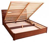 Кровать деревянная Мария с подъемным механизмом двуспальная