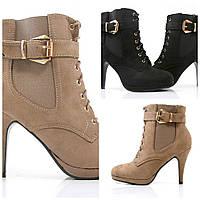 Женские замшевые осенние ботинки ,ботильоны