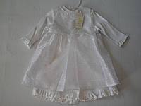 Нарядное платье для девочки для крещения р74