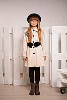 Демисезонное кашемировое пальто для девочки 10 - 12 лет