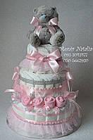 """Подарок Новорожденной девочке. Торт из памперсов """"Наша розочка"""""""