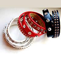 Кожаные браслеты, 3 цвета в наличии