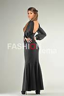 Платье женское из кристалла черного цвета