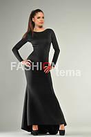 Платье женское из дайвинга черного цвета
