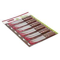 Набор ножей Kamille 12 предметов из нержавеющей стали с деревянными ручками