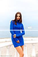Тёплое платье гольфсинего цвета